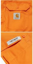 Carhartt Shirts Other Plaid Patterns Street Style Cotton Short Sleeves Logo 18