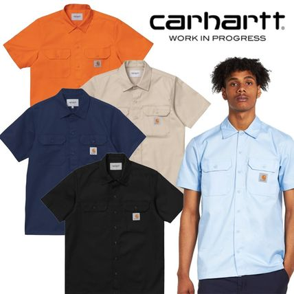 Carhartt Shirts Other Plaid Patterns Street Style Cotton Short Sleeves Logo