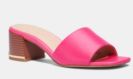 Coach Open Toe Casual Style Leather Party Style Flip Flops