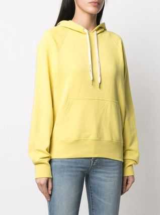 ZADIG & VOLTAIRE Hoodies & Sweatshirts Street Style Long Sleeves Plain Leather Cotton Logo 3