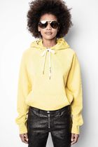 ZADIG & VOLTAIRE Hoodies & Sweatshirts Street Style Long Sleeves Plain Leather Cotton Logo 5