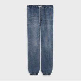 CELINE Denim Street Style Plain Cotton Joggers Jeans