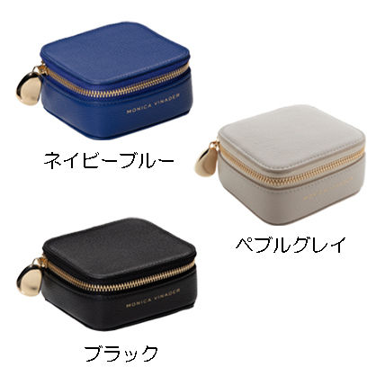 Monica Vinader Plain Leather Pouches & Cosmetic Bags