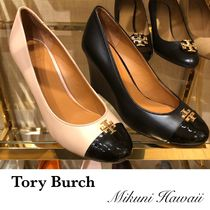 Tory Burch Casual Style Bi-color Plain Office Style Elegant Style