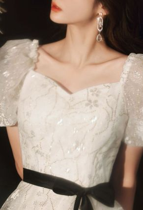 Long Puff Sleeves Wedding Dresses