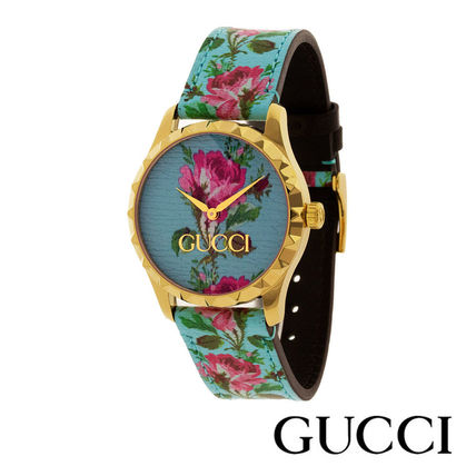 GUCCI Round Formal Style  Casual Style Leather Party Style