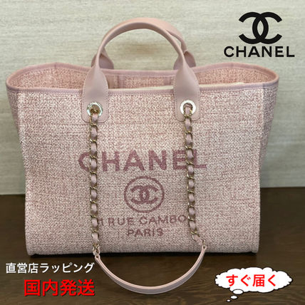 CHANEL DEAUVILLE chanel shopping toto