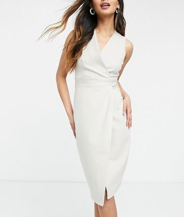 Formal Style  Wrap Dresses Casual Style Tight Sleeveless
