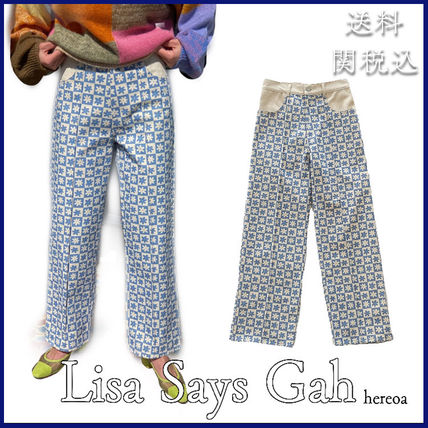 Printed Pants Other Plaid Patterns Flower Patterns