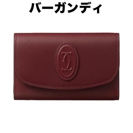 Cartier Logo Leather Keychains & Holders