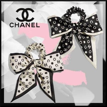 CHANEL Costume Jewelry Scrunchy Casual Style Party Style