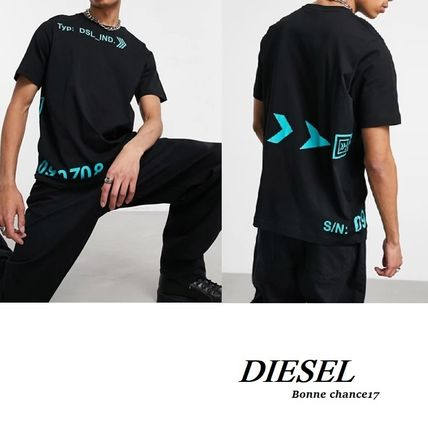 DIESEL More T-Shirts Crew Neck Street Style Cotton Short Sleeves Logo T-Shirts