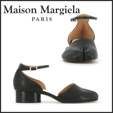 Maison Margiela Tabi Leather Block Heels Chunky Heels Block Heel Pumps & Mules