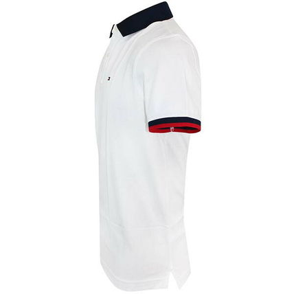 Tommy Hilfiger Plain Cotton Short Sleeves Logo Polos