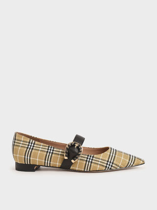 Charles&Keith Other Plaid Patterns Casual Style Sheepskin Plain