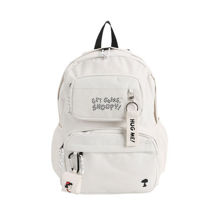 Unisex A4 Plain Street Style Backpacks