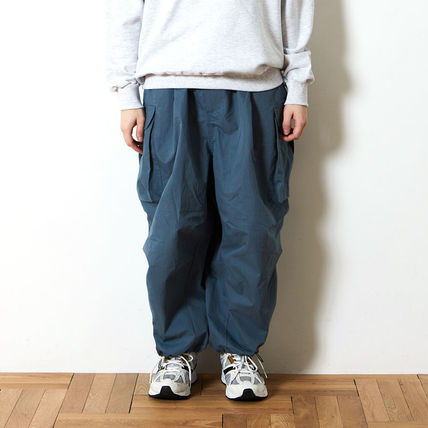 Plain Cotton Street Style Cargo Pants