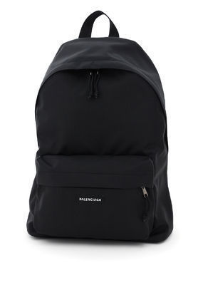 BALENCIAGA Plain Logo Backpacks