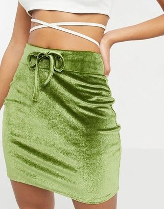 ASOS Short Velvet Plain Mini Skirts
