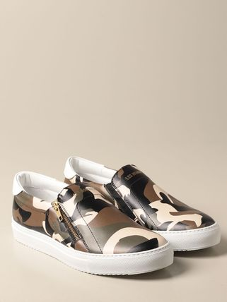 Camouflage Driving Shoes Unisex Studded Street Style Logo