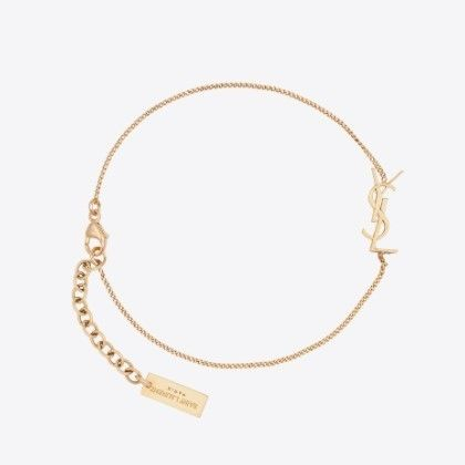 Saint Laurent Casual Style Chain Party Style Brass Office Style