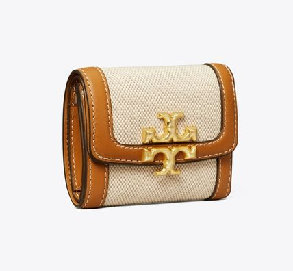 Tory Burch Folding Wallet Small Wallet Logo Leather Folding Wallets