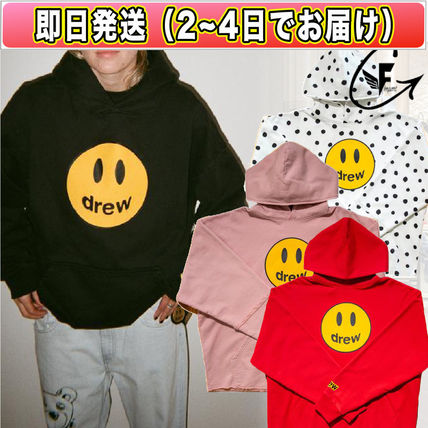 Pullovers Dots Unisex Street Style Long Sleeves Plain Cotton