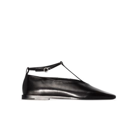 Jil Sander Square Toe Casual Style Plain Leather Party Style