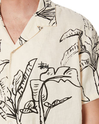 STUSSY Shirts Button-down Tropical Patterns Unisex Street Style Cotton 2