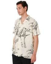 STUSSY Shirts Button-down Tropical Patterns Unisex Street Style Cotton 4