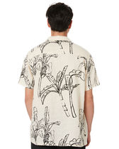STUSSY Shirts Button-down Tropical Patterns Unisex Street Style Cotton 5