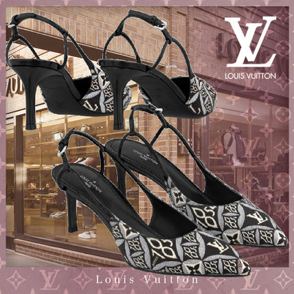 Louis Vuitton Blended Fabrics Leather Pin Heels Party Style Office Style