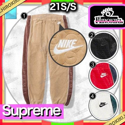 Supreme Unisex Street Style Collaboration Logo Pants
