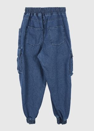 Raucohouse Slax Pants Denim Unisex Collaboration Plain Street Style