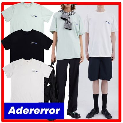 ADERERROR More T-Shirts Unisex Street Style Cotton Short Sleeves Graphic Prints