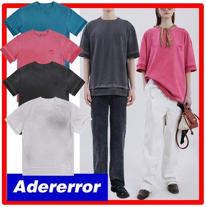 ADERERROR More T-Shirts Unisex Street Style Cotton Short Sleeves T-Shirts