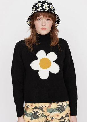 LAZY OAF Casual Style Blended Fabrics Street Style Long Sleeves Plain