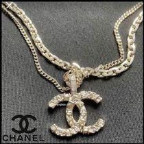 CHANEL Costume Jewelry Casual Style Blended Fabrics Chain
