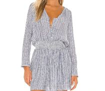 Rails Short Stripes Casual Style V-Neck Long Sleeves Cotton