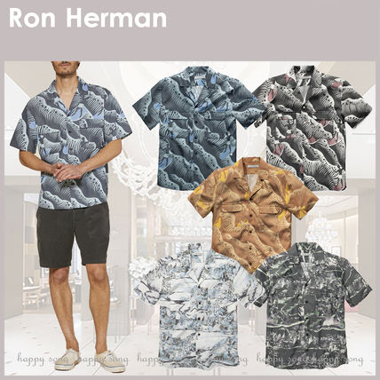 Ron Herman Shirts Button-down Tropical Patterns Blended Fabrics Street Style