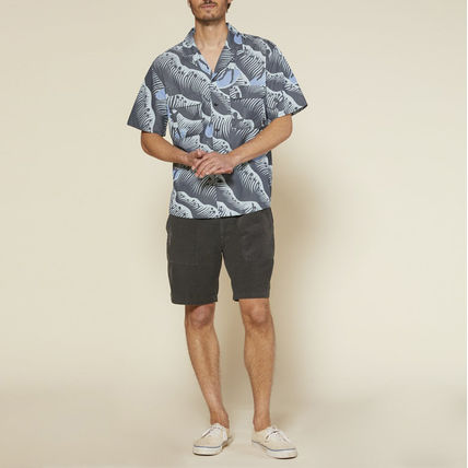 Ron Herman Shirts Button-down Tropical Patterns Blended Fabrics Street Style 3