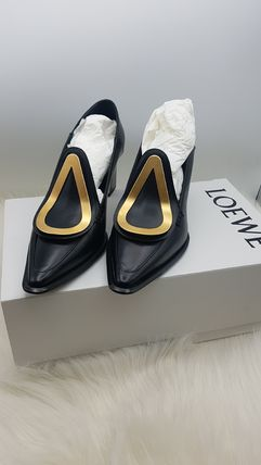 LOEWE Logo Casual Style Plain Leather Loafer & Moccasin Shoes