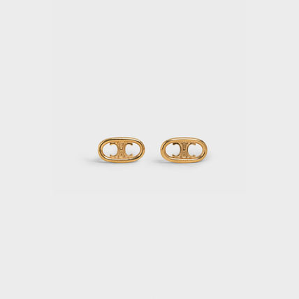 CELINE Triomphe Maillon Triomphe Studs In Brass With Gold Finish