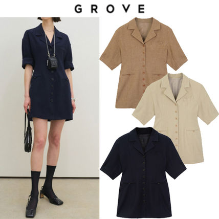 Casual Style Street Style Short Sleeves Office Style Dresses