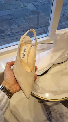 Jimmy Choo Mules Formal Style  Bridal Casual Style Suede Plain