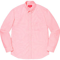 Supreme Shirts Button-down Stripes Unisex Street Style Long Sleeves Cotton 6
