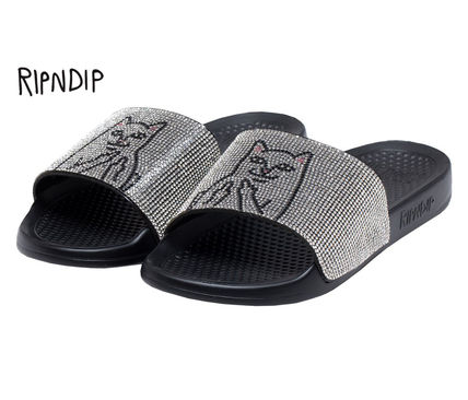 RIPNDIP Logo Street Style Shower Shoes Shower Sandals
