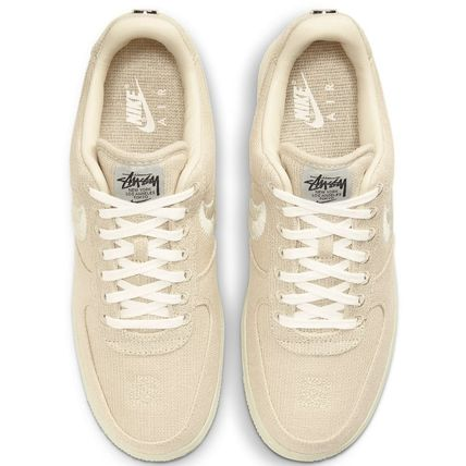 Nike AIR FORCE 1 Unisex Blended Fabrics Street Style Collaboration Plain Logo