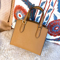 Tory Burch Casual Style Saffiano Blended Fabrics 2WAY Plain Leather