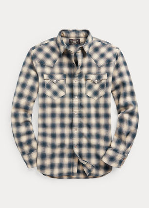 Front Button Surf Style Denim Long Sleeves Street Style
